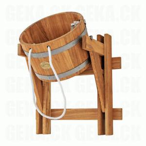 OAK Wood Sauna Bath Bucket Shower 10L / 23L SPA Pool Jacuzzi Waterfall