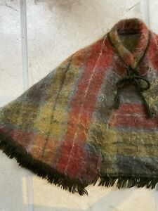 Vintage Mohair Short Cape With Fringing EC