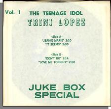 "Trini Lopez - Juke Box Special - 4 Song 7"" 45 RPM Single!"