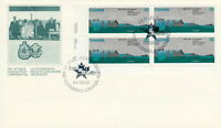 CANADA #1015 32¢ ST LAWRENCE SEAWAY LL PLATE BLOCK FIRST DAY COVER