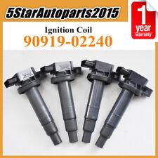 Set 4 New Ignition Coil 90919-02240 for Toyota Echo Prius Yaris Scion xA xB 1.5L