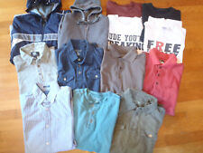 LOT 14 MEN SHIRTS, JACKET, POLO, ATHLETIC, CASUAL, SWEATER, SZ S TOMMY HILFIGER