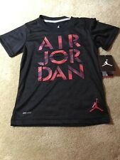 "NWT Nike Air Joran ""Classic Jumpan"" Youth Black Dri-Fit T-Shirt 23 MJ"