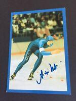 ANDRE HOFFMANN OS 1988/1. Eisschnelllauf signed Postkarte 10 x 15 Autogramm