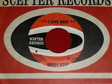 BOBBY HEBB~I LOVE MARY~VG++~SCEPTER~CO. SLEEVE~INST VERSION~~NORTHERN SOUL 45