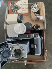 POLAROID PATHFINDER LAND CAMERA 110A LEATHER CASE AND MORE