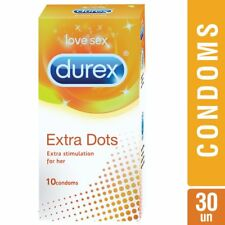 Durex Condoms - 10 Count  Extra Dots Extra stimulation  for her - fs