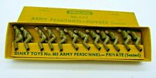 DINKY TOYS 603. SET OF 12 ARMY PERSONNEL - (PRIVATE SEATED). In original box
