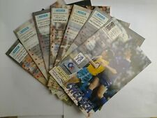 LOT/BUNDLE X7 - 1991/92 - CHELSEA FC HOME PROGRAMMES, PERFECT CONDITION.