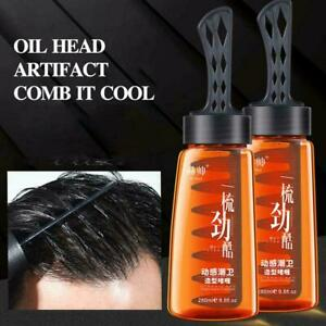 280ml Men Shaped Hair Styling Gel Retro Modeling Strong Hold Pomade Hair W8I4