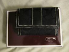 Coach black trifold sig mini wallet with original box