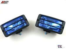 UNIVERSAL 12v CAR SUV 4X4 OFFROAD BLUE FOG SPOT LIGHTS LAMPS 148x75mm  E-MARK