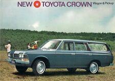 Toyota Crown 2300 Estate & Pick Up 1968-70 UK Market Foldout Sales Brochure