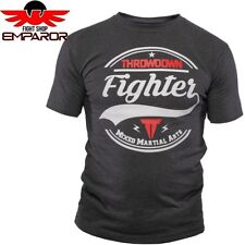 Throwdown t-shirt MMA fighter charcoal fitness ocio artes marciales Camisa Caballero
