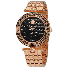 Versace Vanitas Black Quilted Dial Ladies Watch VK7250015