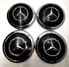 4x Mercedes Benz Ponton Radblenden Radkappen W120 180 190 SL W180 300 Schwarz 15