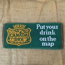 Vintage Canada Dry Put Your Drink On The Map British Bar Towel