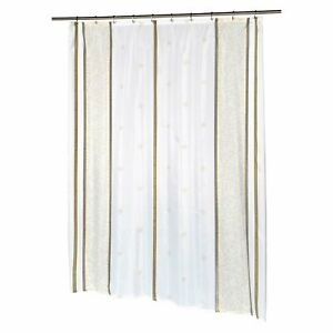 """Carnation Home Extra Long """"Ashley"""" Fabric Shower Curtain"""