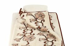 DUVET 160 x 200 cm FLORA DOUBLE LAYER WOOL MERINO PURE WARM SOFT THROW BEDSPREAD