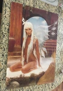 CHER ORIGINAL 1978 NUDE BUTTERFLY  POSTER/PHOTO   Harry Langdon STUDIOS