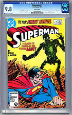 SUPERMAN #1 CGC 9.8 *ORIGIN & FIRST METALLO* JOHN BYRNE STORY COVER & ART 1987