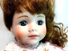"Dynasty Collection Vintage Strawberry Blonde Elaine 16"" Porcelain Bisque Doll"