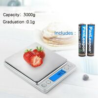 Digital Scale 3000g x 0.1g Jewelry Pocket Gram Gold Silver Coin Precise NEW