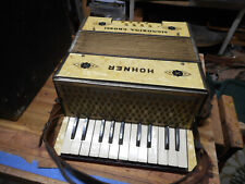 Vintage Hohner Signorina Grossi Button Style Piano Accordion 8 Bass With Case