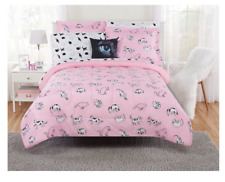 New 8 Piece Pink Cat Lover's Full Size Comforter Set Girl's Bedding Kid's Sheets