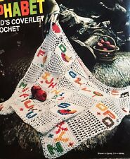 Vtg Bucilla Baby Child's Alphabet Crochet Afghan Coverlet Kit # 7939 in Box