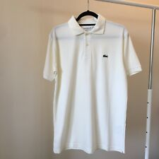 Lacoste Men's Polo Classic Fit. Size 6, Large. Cream. NEW. Free shipping!