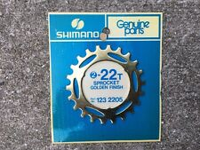 NOS NIP Shimano Dura Ace 5 Speed, 22t freewheel Cog, Sprocket GOLD