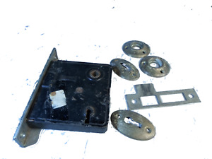 Vintage Russwin  Door Mortise Lock Parts plus bonus door parts