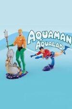 """NIB DC Direct AQUAMAN & AQUALAD Deluxe Action Figure Set and Aquaman """"2007"""" DVD"""