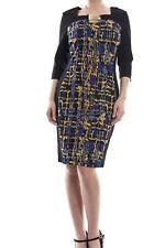 Joseph Ribkoff Black/Royal Blue Colorblock Sheath Dress Sz 8 (UK 10) New 173683