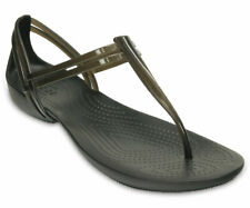 Women's Crocs ISABELLA T-STRAP Black Sandals Shoes, Style # 202467-001