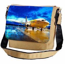 Passenger Airplane In The Dusk Messenger Cross-Body Shoulder Flap Bag