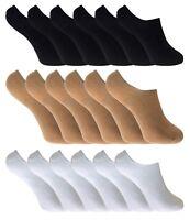 6 paires femme bambou invisibles basses courtes chaussettes en noir blanc beige