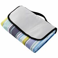 Waterproof Extra Large Mat for Camping and Travel Picnic Blanket Blue Stripe