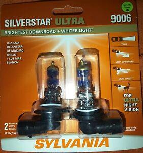 (2) SYLVANIA SilverStar ULTRA 9006 HALOGEN HEADLIGHT LAMP BULBS New L@@K ! (HB4)