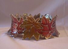 Bath & and Body Works 14.5 oz 3-Wick Candle Sleeve Holder Colorful Maple Leaves