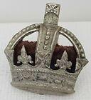 Officers rank crown Kings Tudor Crown white metal red cushion 27*25 East west