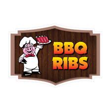 Food Truck Decals Bbq Ribs Concession Restaurant Die Cut Vinyl Sticker D69