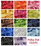 Polka Dot Classic Satin Ribbon by Berisfords 15mm & 25mm 15 Colours & 5 Lengths
