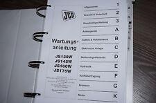 JCB Radbagger JS130W JS145W JS160W JS175W REPARATURHANDBUCH WERKSTATTHANDBUCH