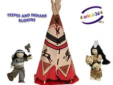TIPI INDIAN AMERICAN NATIVE SQUAW TOY VAN BUDKINS FARWEST WESTERN WARRIOR RARE