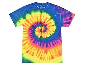 Multi-Color Tie Dye T-Shirts,  Kids & Adults Short Sleeve Cotton Colortone
