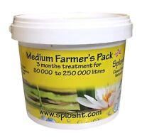 POND CLEANER SPLOSHT Medium Farmer's Pack - Cleans upto 250,000 Litres