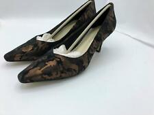 Bella Vita Wow Leather Pumps (1981) Black/Bronze Camo Size 10N