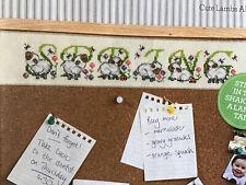 Joan Elliott Cute Spring Lambs Alphabet ABC Cross Stitch Chart